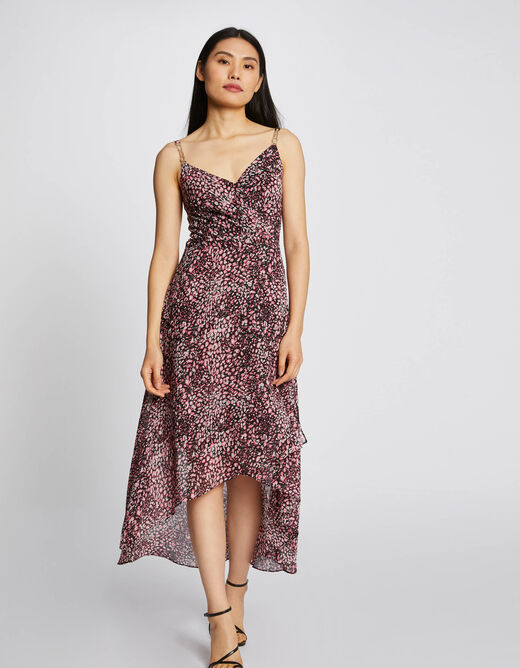 Midi A-line dress with floral print multico ladies'