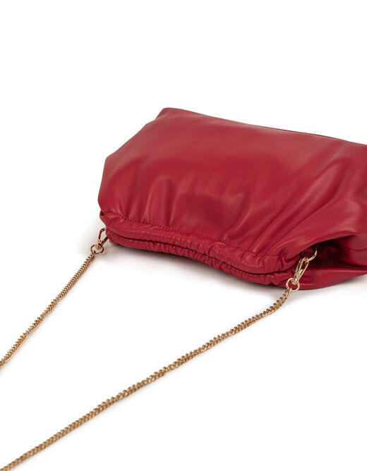 Clutch bag with chain strap red ladies'