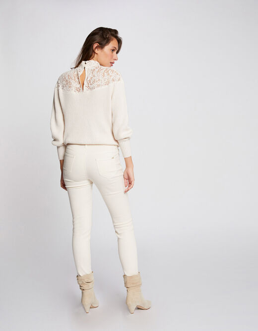 Low-waisted skinny jeans ivory ladies'
