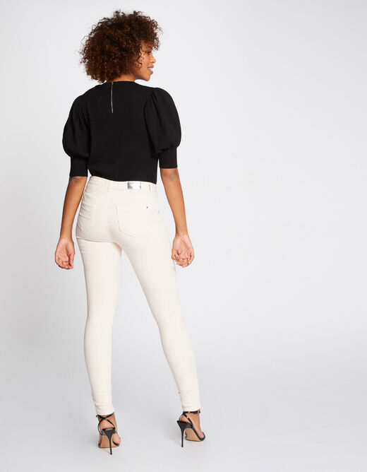 Standard waisted skinny trousers pale pink ladies'