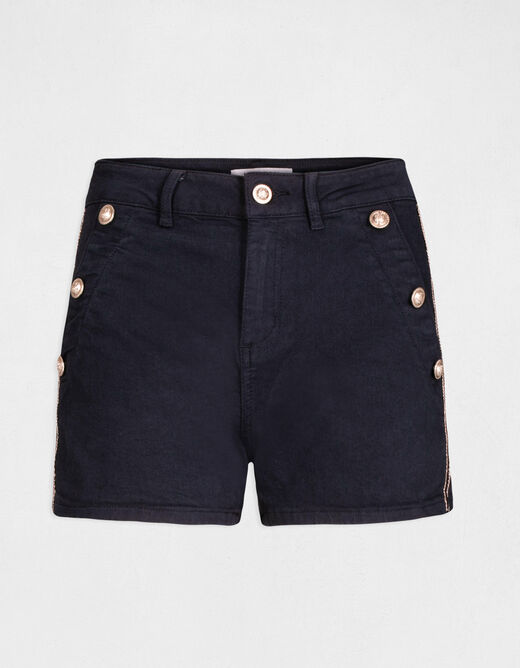 Standard waisted straight shorts navy ladies'