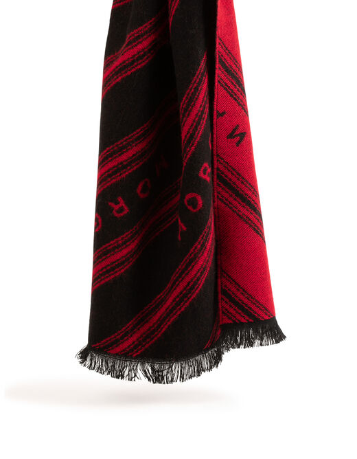 Scarf with « MORGAN » message red ladies'