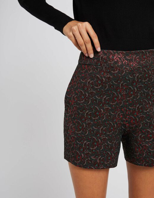 Straight shorts with floral print multico ladies'