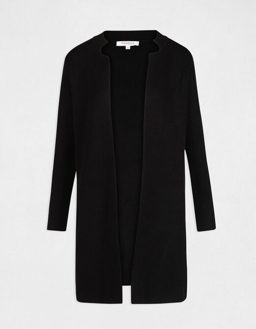 Straight jacket with notched collar black ladies'
