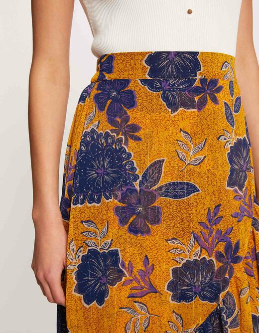 Wrap skirt with floral print multico ladies'