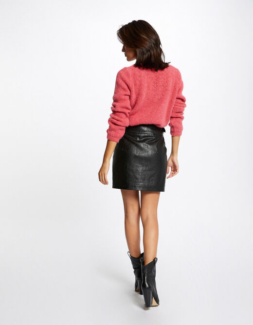 Long-sleeved jumper with round neck raspberry ladies'