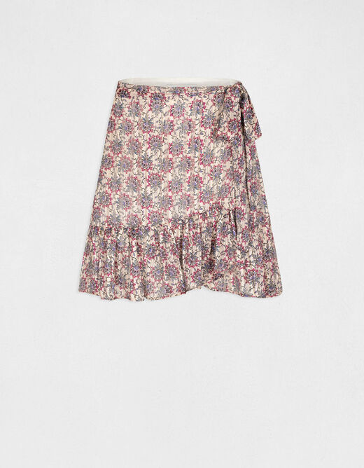 A-line skirt with floral print multico ladies'