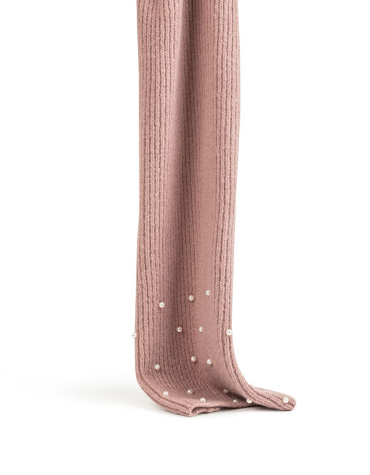 Scarf with pearls pink ladies'