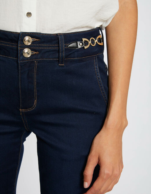 Bootcut jeans with ornaments raw denim ladies'