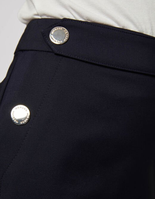 Straight skirt with zipped back navy ladies'
