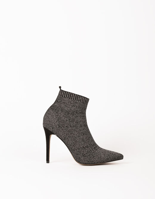 Boots with stiletto heels silver ladies'