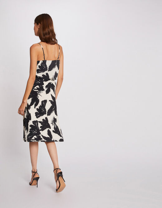 Blouse thin straps with abstract print multico ladies'