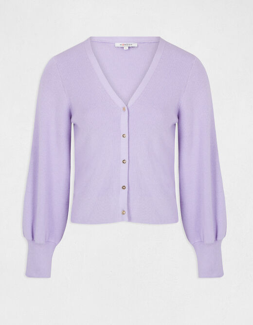 Buttoned long-sleeved cardigan parma ladies'