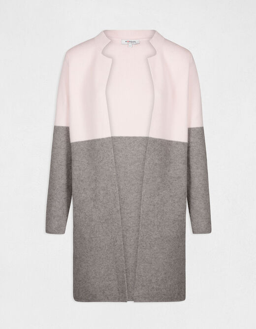 Straight jacket with notched collar pale pink ladies'