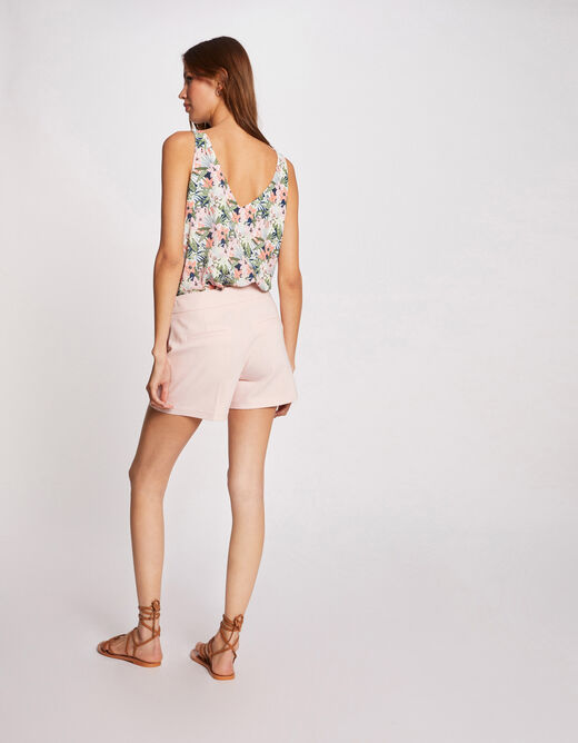 Blouse with wide straps and floral print multico ladies'