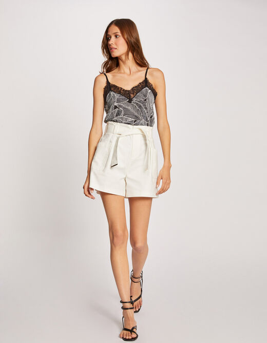 Printed vest top with thin straps multico ladies'
