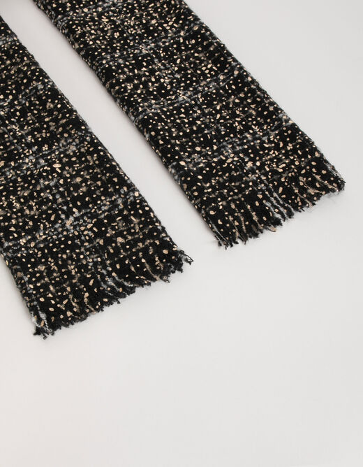 Scarf with abstract print black ladies'