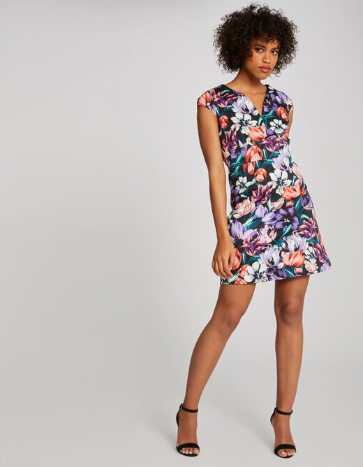 A-line dress with floral print multico ladies'