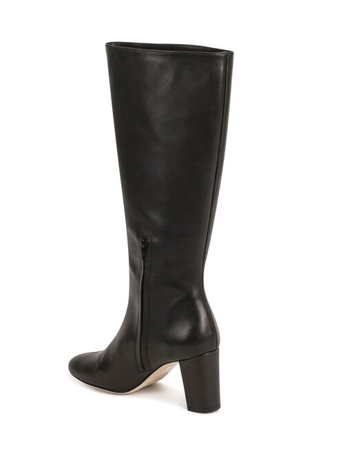Riding boots with heels black ladies'