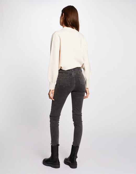 Long-sleeved cardigan with lapel collar ivory ladies'
