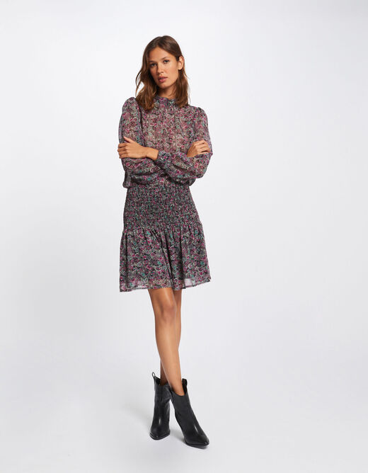 A-line dress with paisley print multico ladies'