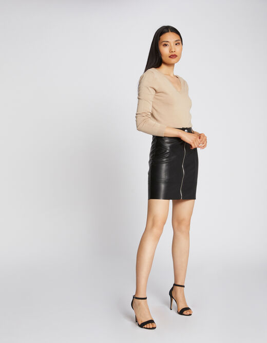Long-sleeved jumper with back opening putty ladies'