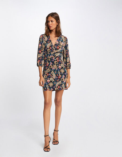 Fitted dress with paisley print multico ladies'
