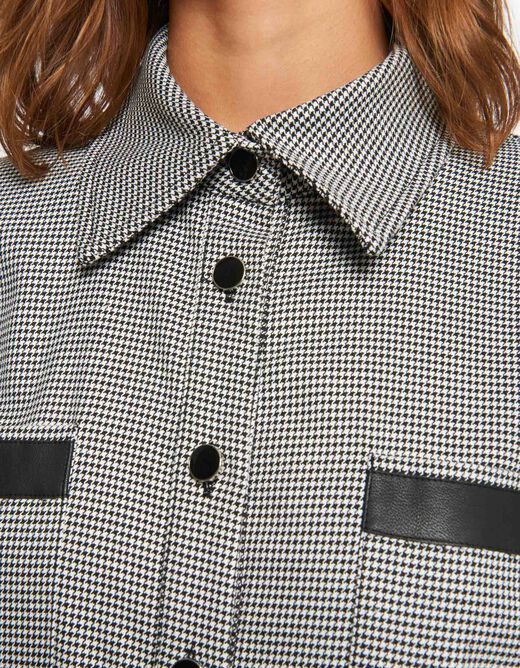 Checked straight belted playsuit light grey ladies'